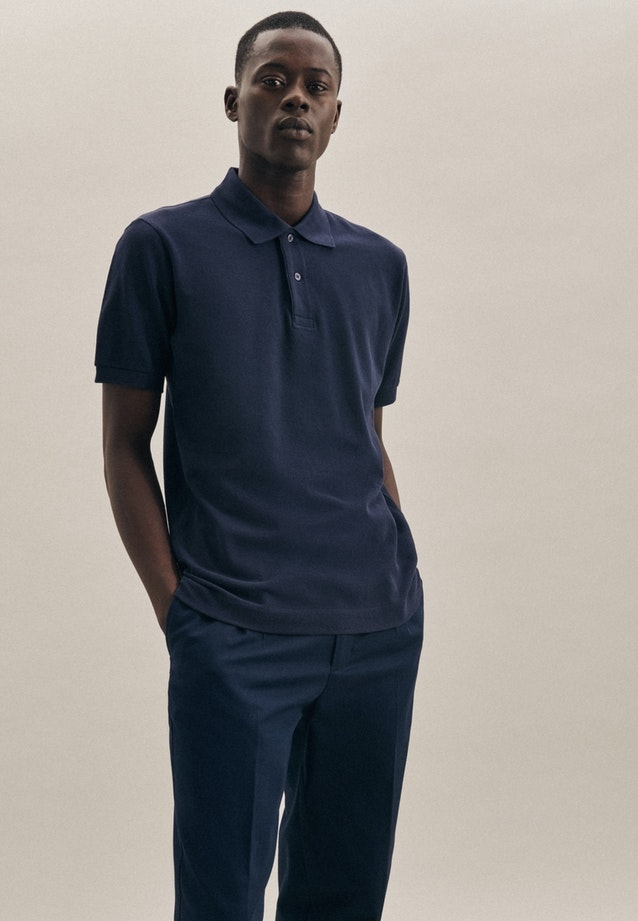 Polo-Shirt made of 100% Cotton in Dark blue |  Seidensticker Onlineshop