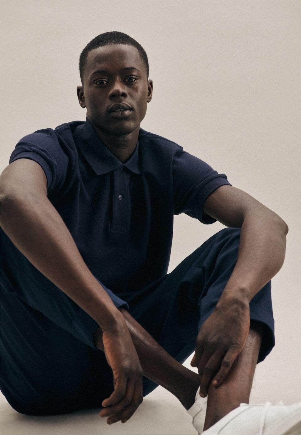 Polo-Shirt aus 100% Baumwolle in Dunkelblau    Seidensticker Onlineshop