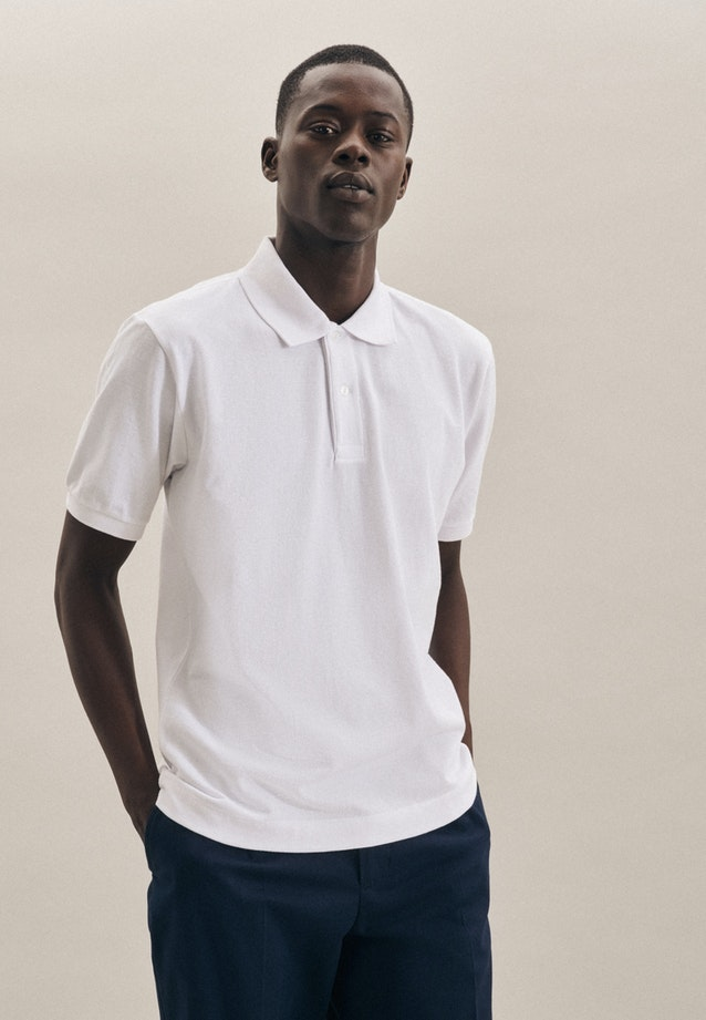 Polo-Shirt made of 100% Cotton in White |  Seidensticker Onlineshop