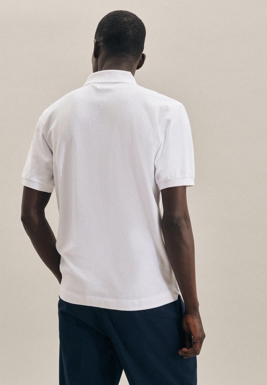 Polo-Shirt made of 100% Cotton in White    Seidensticker Onlineshop
