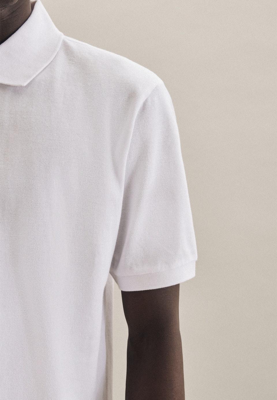 Polo-Shirt aus 100% Baumwolle in Weiß |  Seidensticker Onlineshop