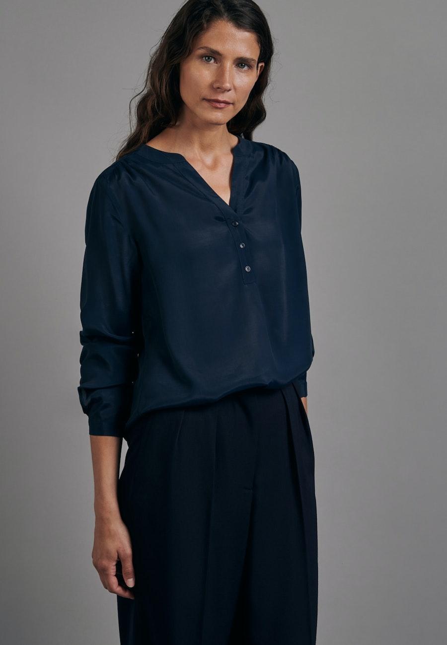 Voile Tunic made of 100% Viscose in Dark blue |  Seidensticker Onlineshop