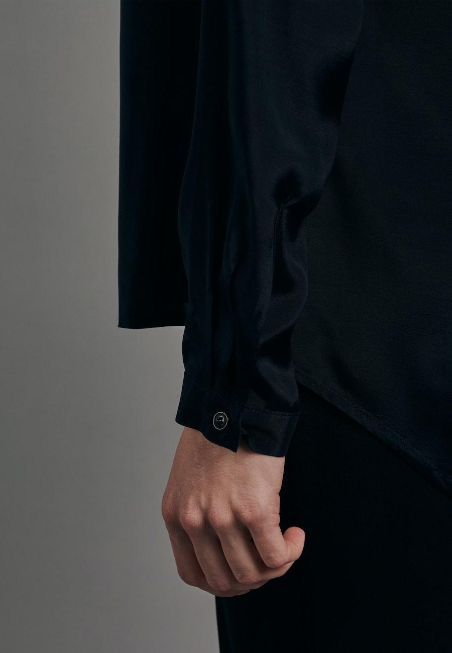 Voile Tunika aus 100% Viskose in Schwarz    Seidensticker Onlineshop