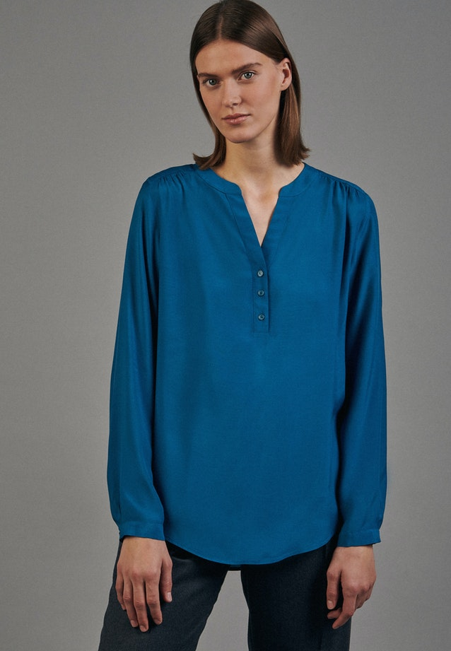 Voile Tunic made of 100% Viscose in Turquoise |  Seidensticker Onlineshop