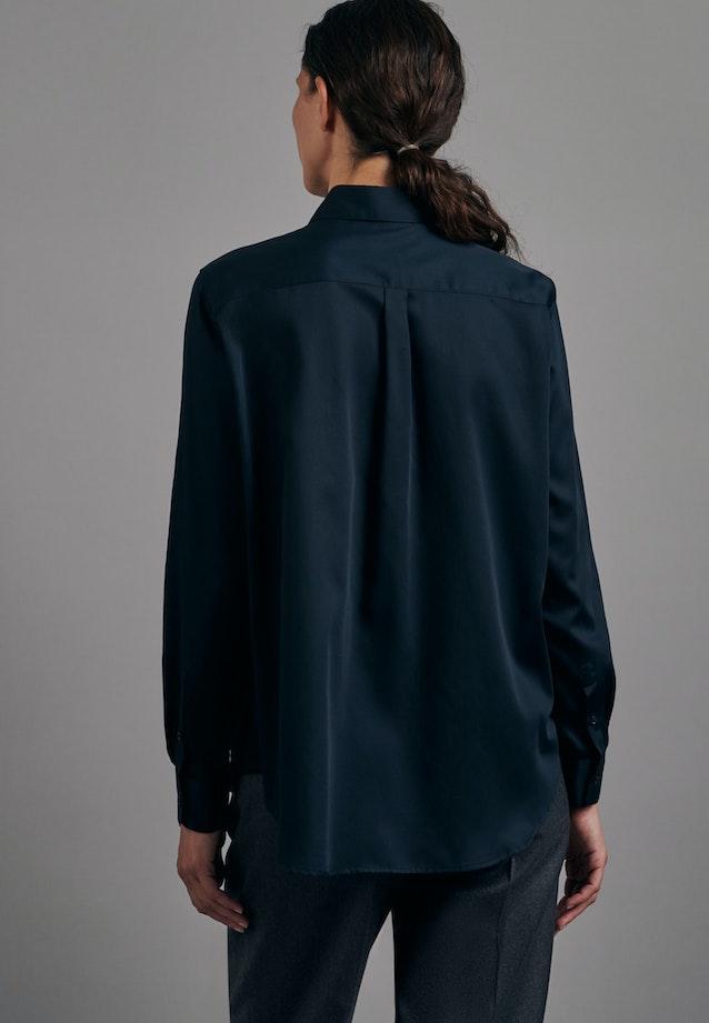 Satin Shirt Blouse made of 100% Cotton in Black |  Seidensticker Onlineshop