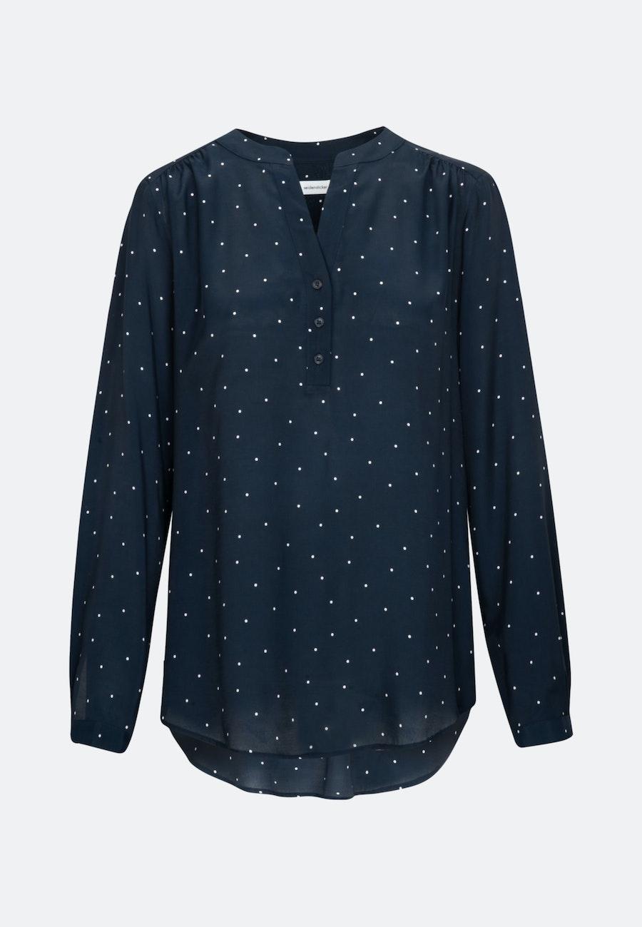 Voile Tunic made of 100% Viscose in Dark blue    Seidensticker Onlineshop