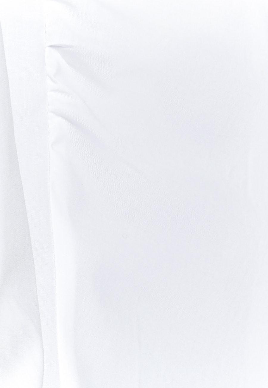 Popeline Kelchkragenbluse aus Baumwollmischung in Weiß |  Seidensticker Onlineshop