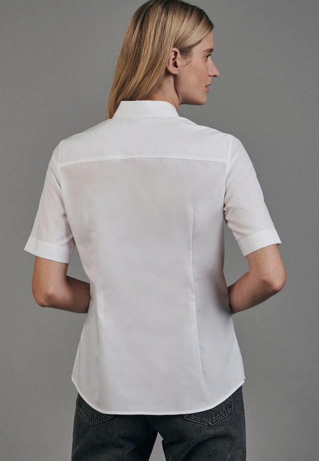 Non-iron Short sleeve Poplin Shirt Blouse made of 100% Cotton in White |  Seidensticker Onlineshop