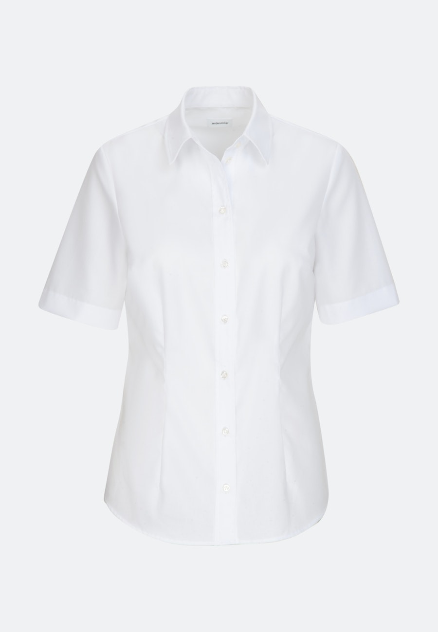Non-iron Short sleeve Popeline Shirt Blouse made of 100% Cotton in White |  Seidensticker Onlineshop