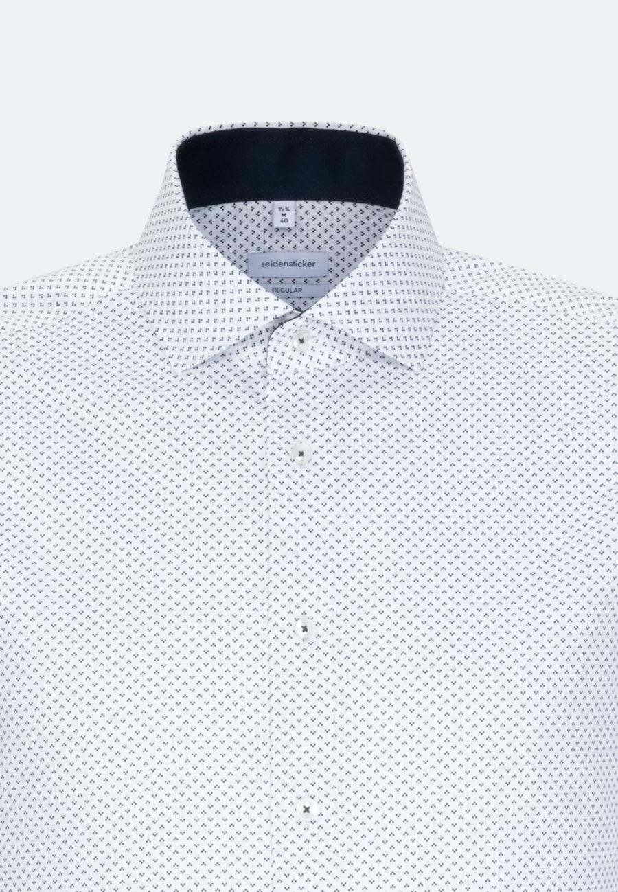 Easy-iron Twill Business Shirt in Regular with Kent-Collar in Dark blue |  Seidensticker Onlineshop