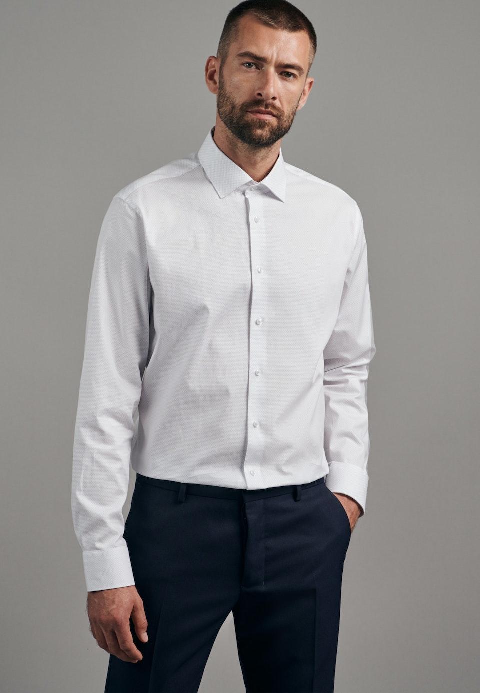 Bügelleichtes Oxford Business Hemd in Shaped mit Kentkragen in Hellblau |  Seidensticker Onlineshop