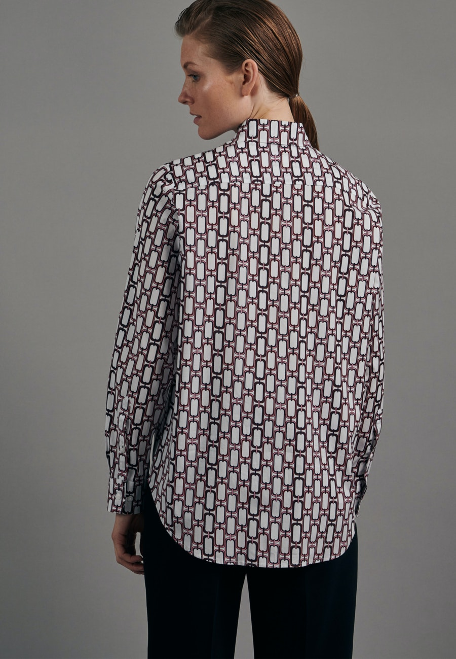 Popeline Shirt Blouse made of cotton blend in Red |  Seidensticker Onlineshop