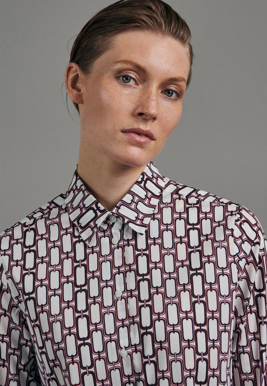 Poplin Shirt Blouse made of cotton blend in Red    Seidensticker Onlineshop