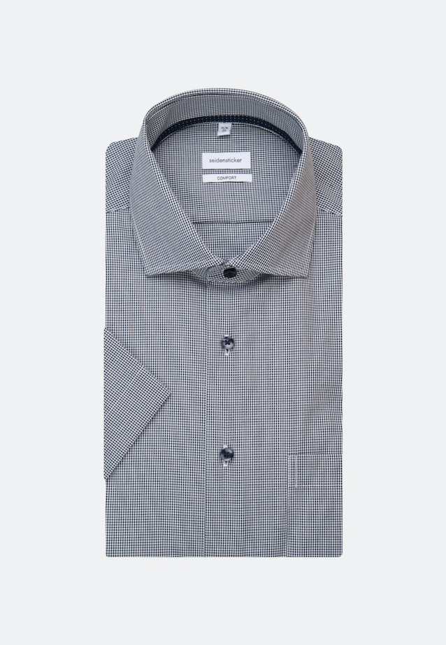 Non-iron Popeline Short sleeve Business Shirt in Comfort with Kent-Collar in Dark blue |  Seidensticker Onlineshop