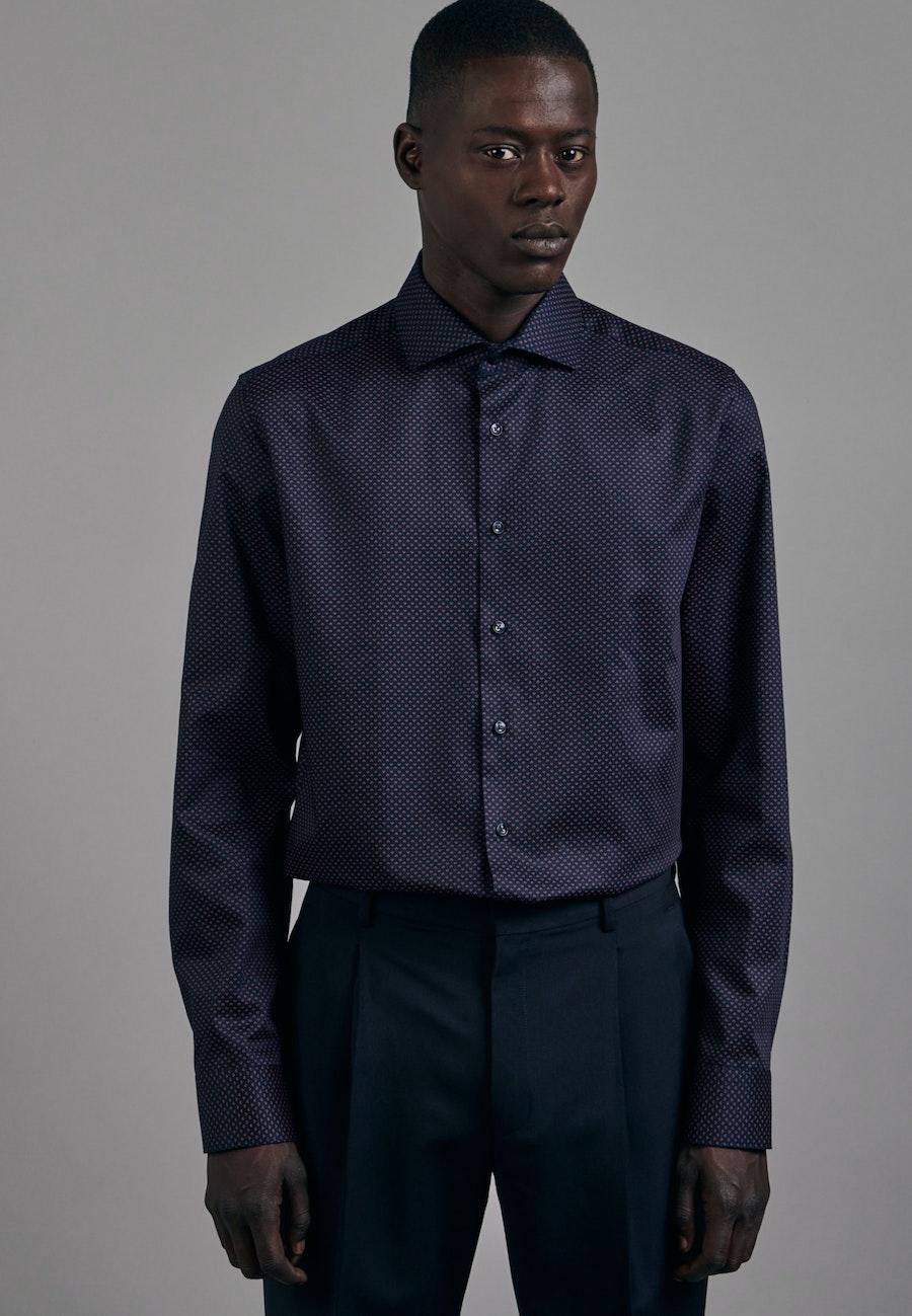 Easy-iron Twill Business Shirt in Slim with Kent-Collar in Red    Seidensticker Onlineshop