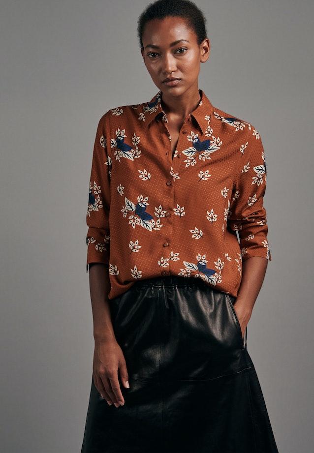 Jacquard Hemdbluse aus 100% Viskose in Orange    Seidensticker Onlineshop