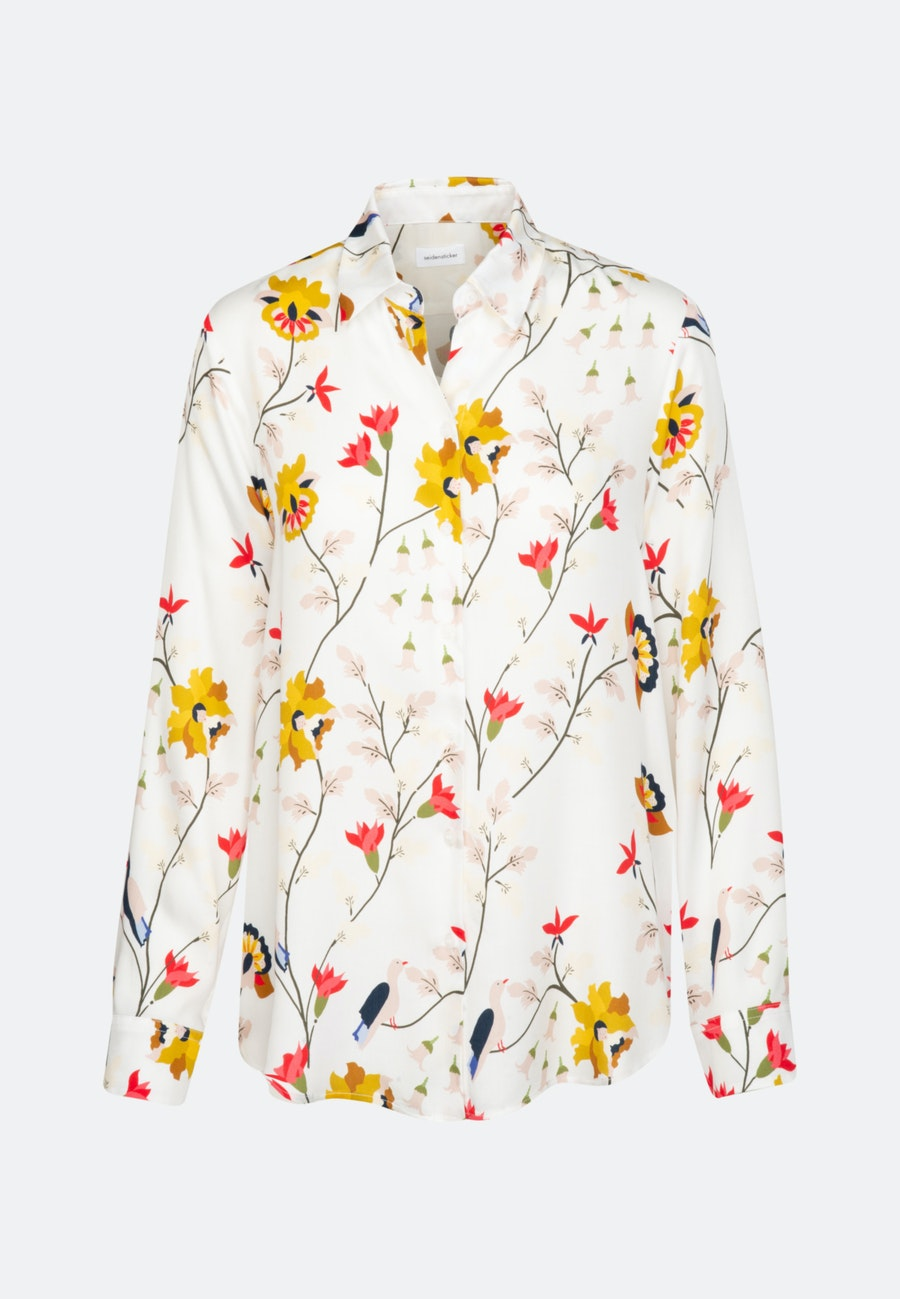 Satin Shirt Blouse made of 100% Viscose in Ecru    Seidensticker Onlineshop