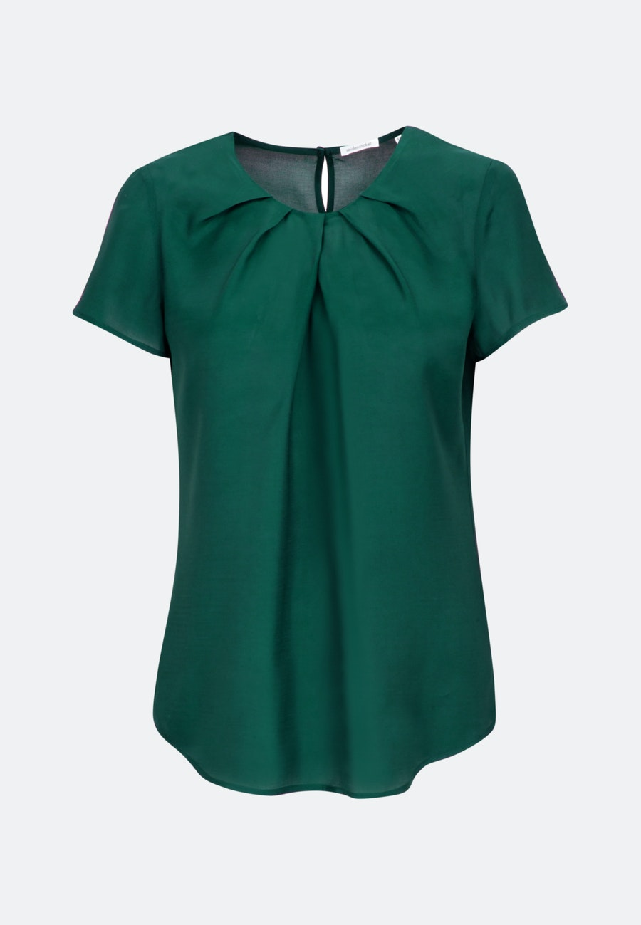 Short sleeve Voile Shirt Blouse made of 100% Viscose in Green |  Seidensticker Onlineshop