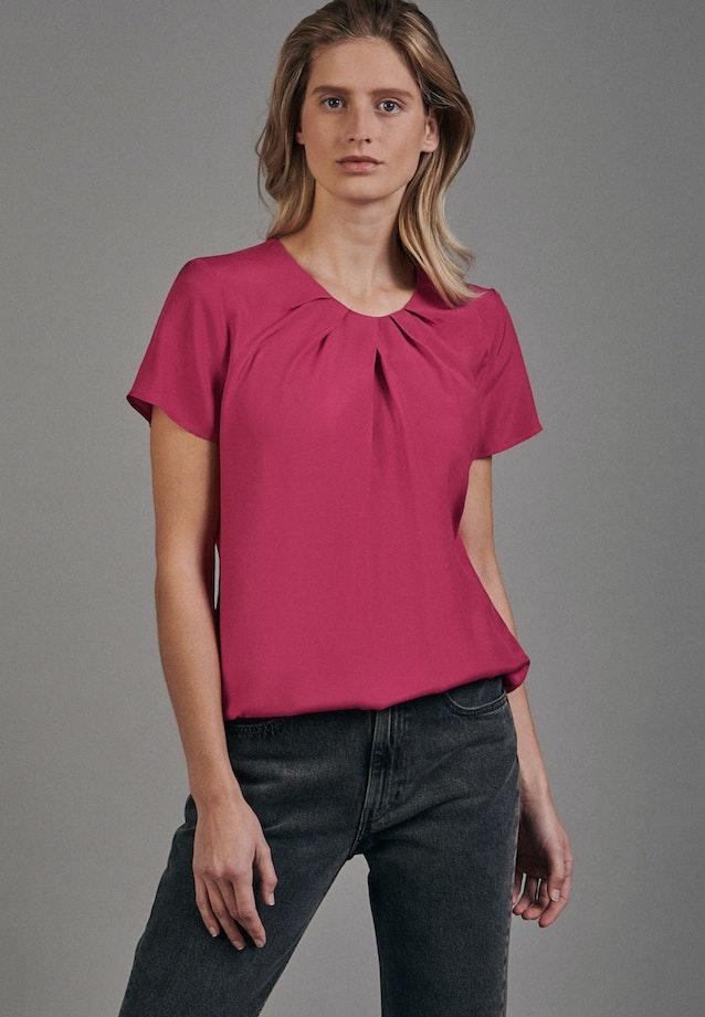 Kurzarm Voile Shirtbluse aus 100% Viskose in Rot |  Seidensticker Onlineshop