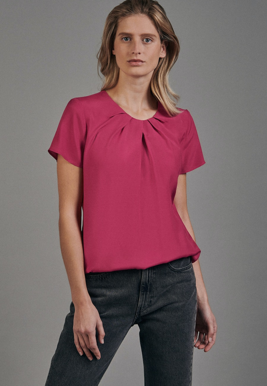 Short sleeve Voile Shirt Blouse made of 100% Viscose in Red |  Seidensticker Onlineshop