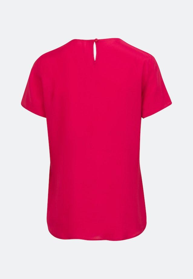 Kurzarm Voile Shirtbluse aus 100% Viskose in Rot    Seidensticker Onlineshop