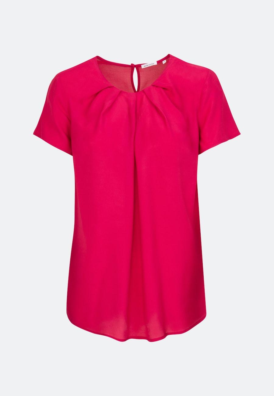 Short sleeve Voile Shirt Blouse made of 100% Viscose in Red    Seidensticker Onlineshop