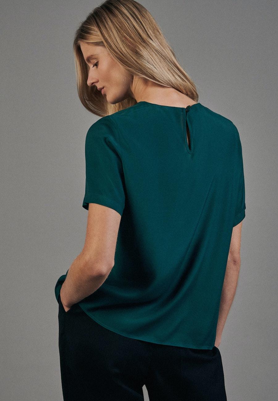 Kurzarm Voile Shirtbluse aus 100% Viskose in Grün |  Seidensticker Onlineshop