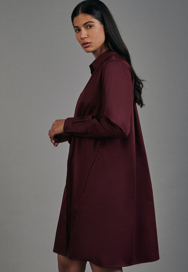 Satin Midi Dress made of cotton blend in Rot |  Seidensticker Onlineshop