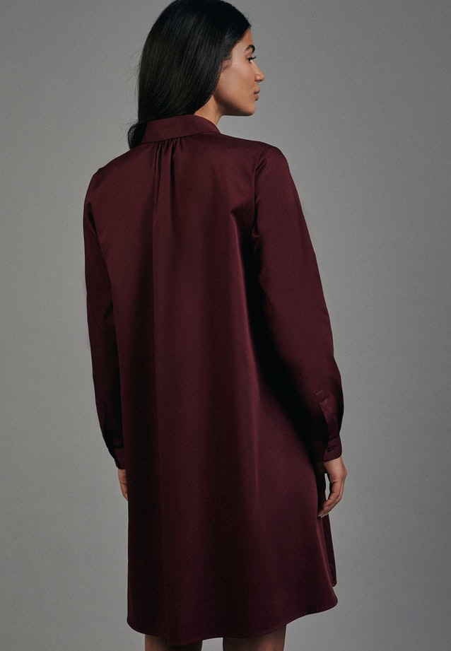 Satin Midi Kleid aus Baumwollmischung in Rot |  Seidensticker Onlineshop