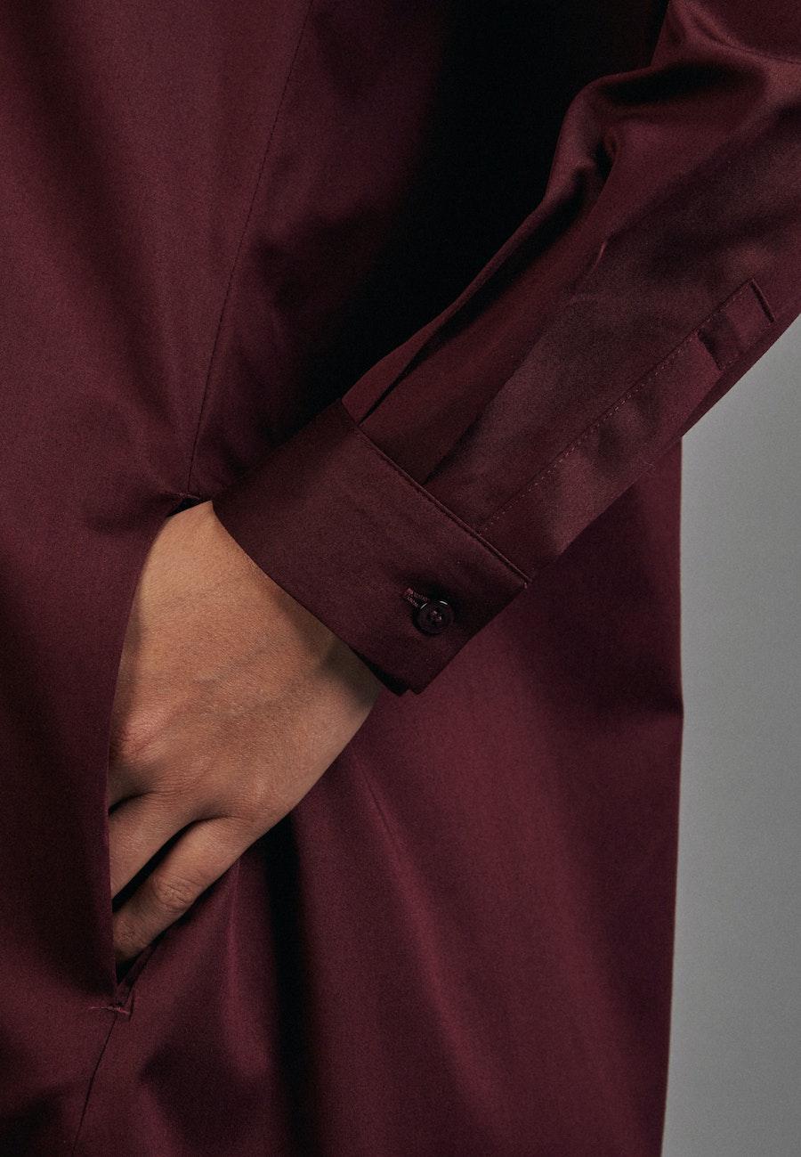 Satin Midi Dress made of cotton blend in Rot |  Seidensticker Onlineshop