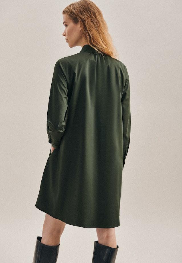 Satin Midi Dress made of cotton blend in Green |  Seidensticker Onlineshop