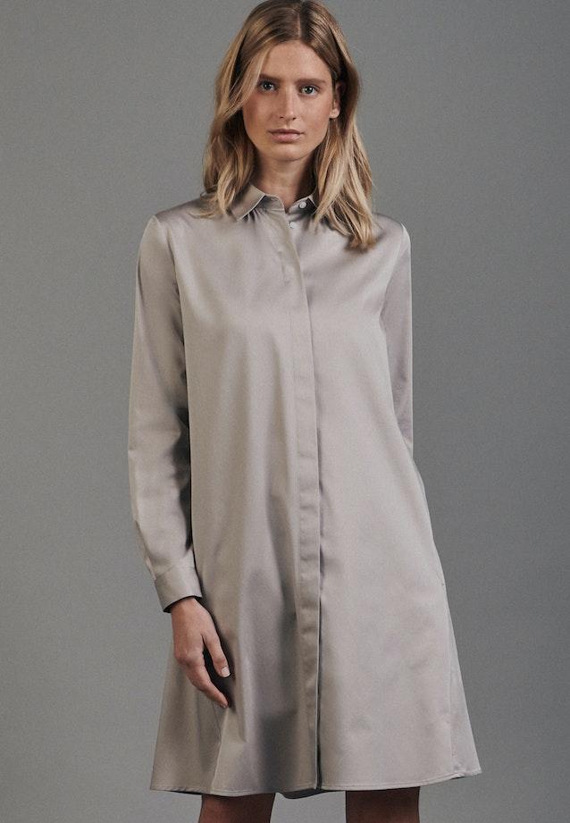 Satin Midi Kleid aus Baumwollmischung in Braun |  Seidensticker Onlineshop