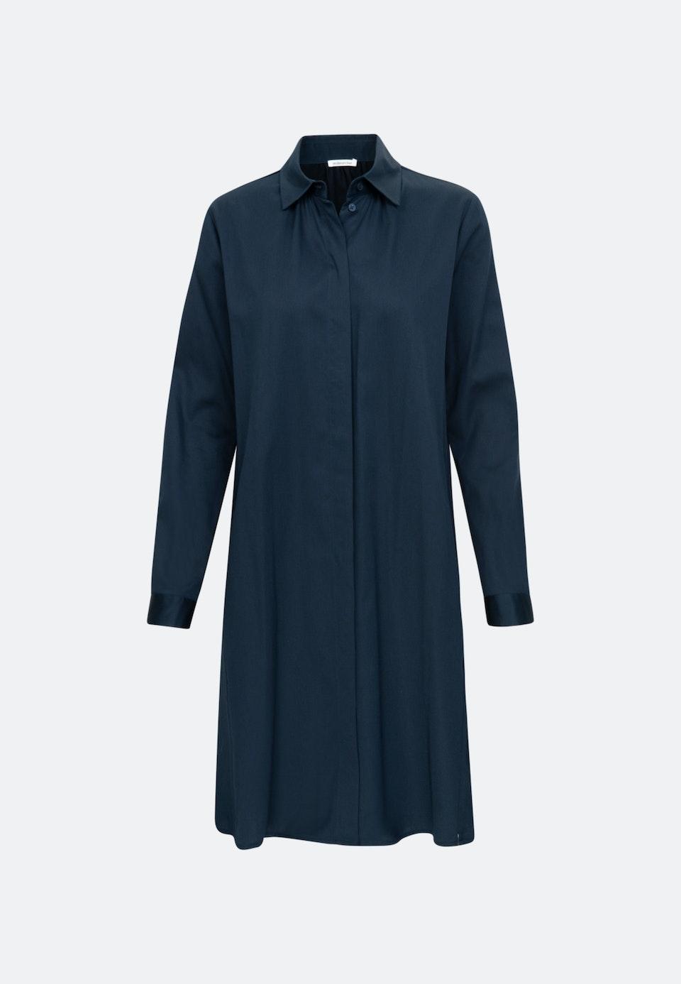 Satin Midi Kleid aus Baumwollmischung in Dunkelblau    Seidensticker Onlineshop