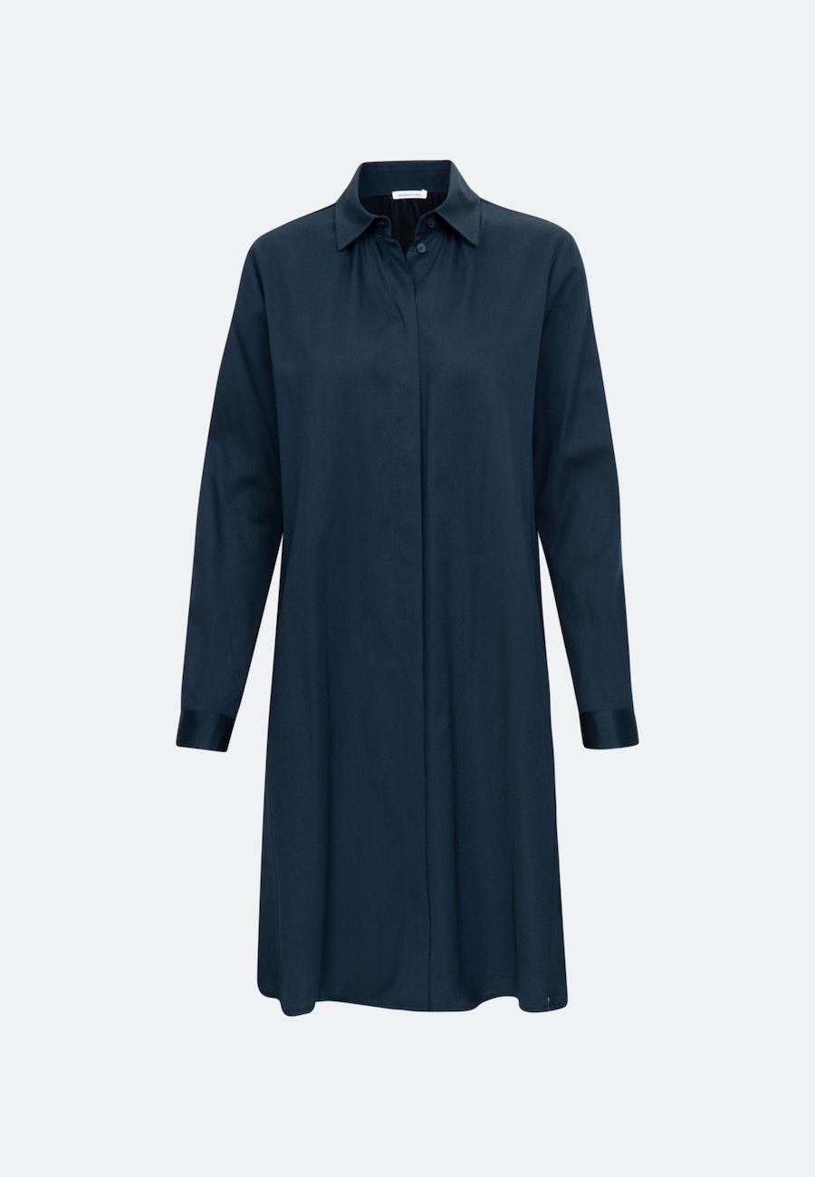 Satin Midi Kleid aus Baumwollmischung in Dunkelblau |  Seidensticker Onlineshop
