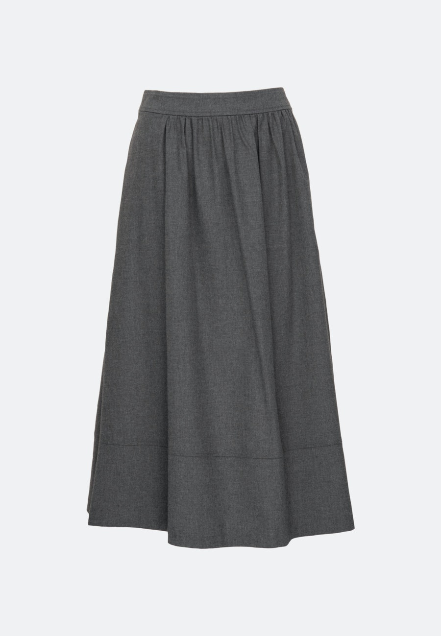 Flannel Midi Skirt made of 100% Cotton in Grey |  Seidensticker Onlineshop
