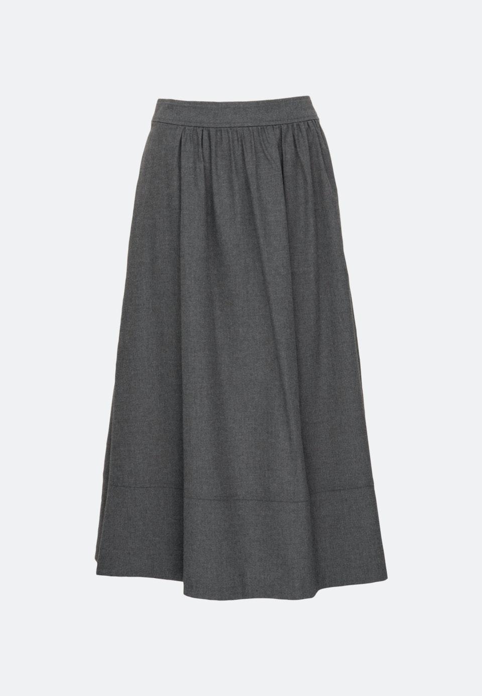 Flanell Midi Skirt made of 100% Cotton in Grey |  Seidensticker Onlineshop