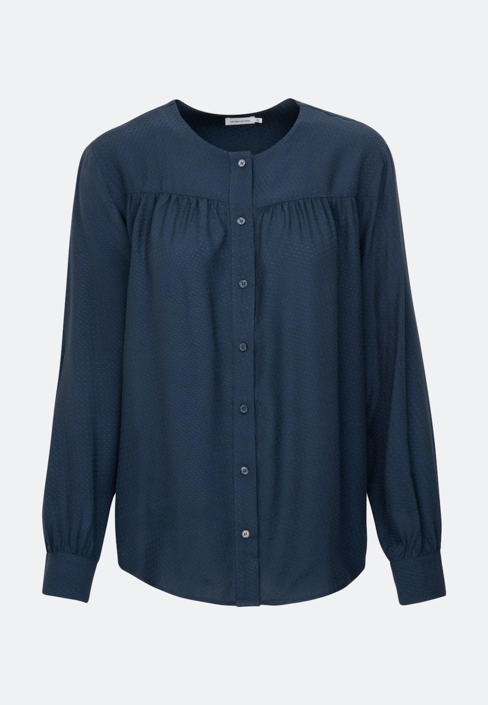 Jacquard Shirt Blouse made of 100% Viscose in Dark blue    Seidensticker Onlineshop