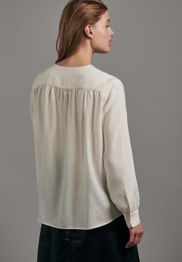 Jacquard Shirt Blouse made of 100% Viscose in Ecru |  Seidensticker Onlineshop