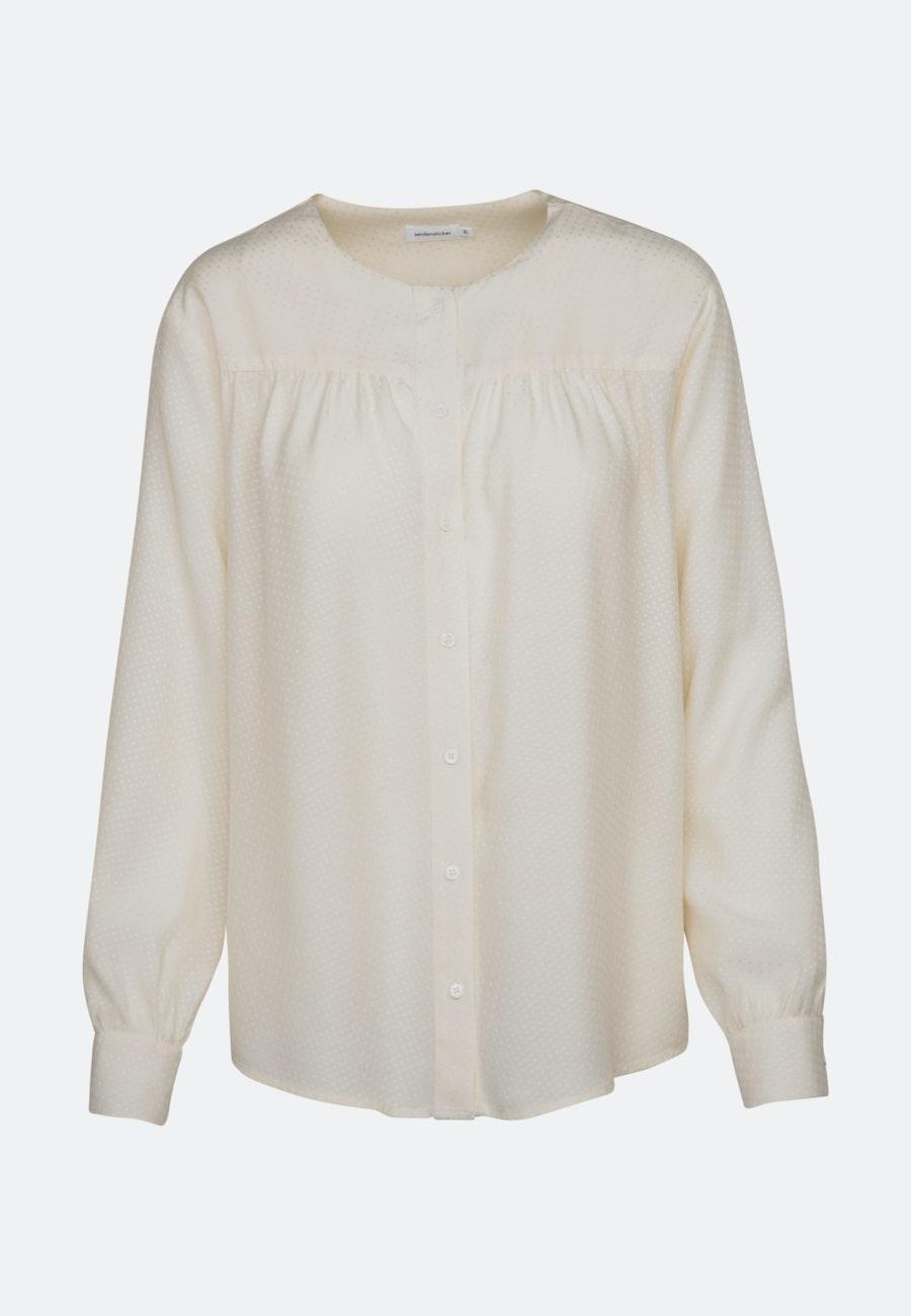 Jacquard Shirtbluse aus 100% Viskose in Ecru |  Seidensticker Onlineshop