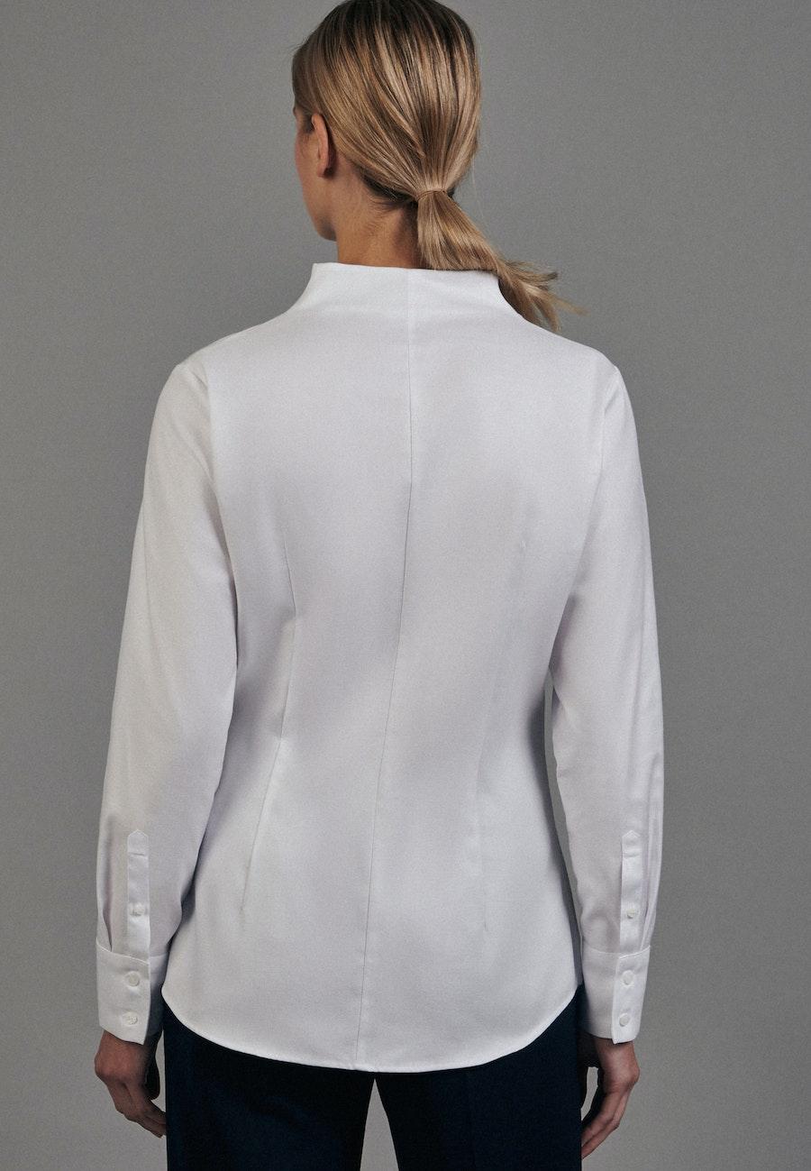 Twill Kelchkragenbluse aus 100% Baumwolle in Weiß    Seidensticker Onlineshop