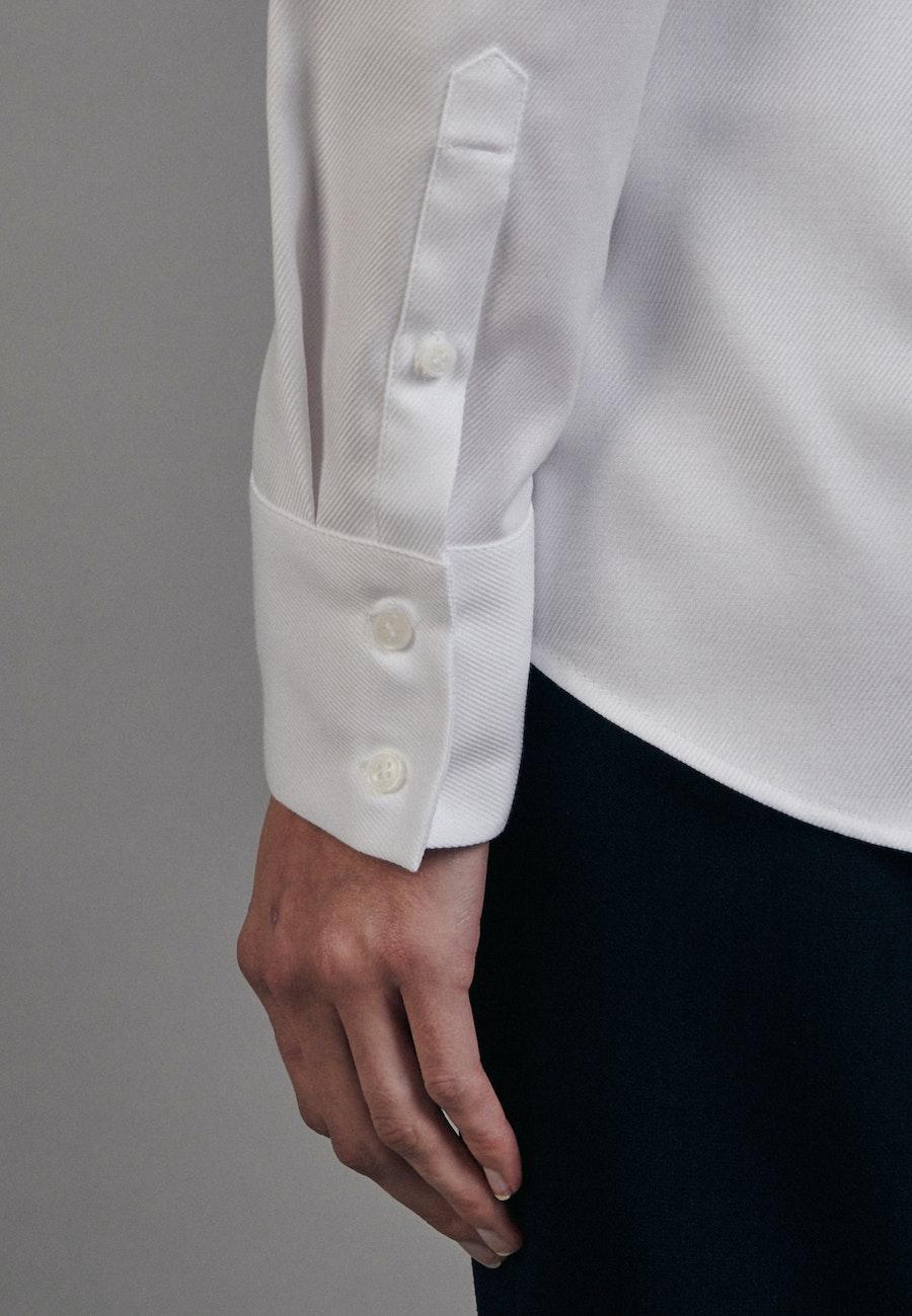 Twill Kelchkragenbluse aus 100% Baumwolle in Weiß |  Seidensticker Onlineshop