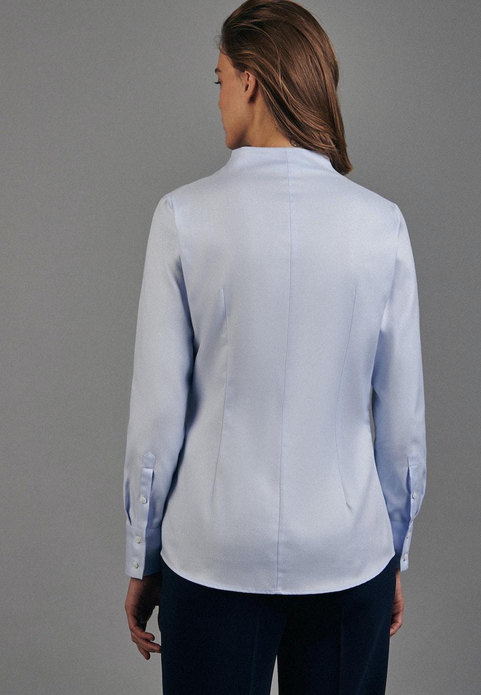 Twill Kelchkragenbluse aus 100% Baumwolle in Hellblau |  Seidensticker Onlineshop