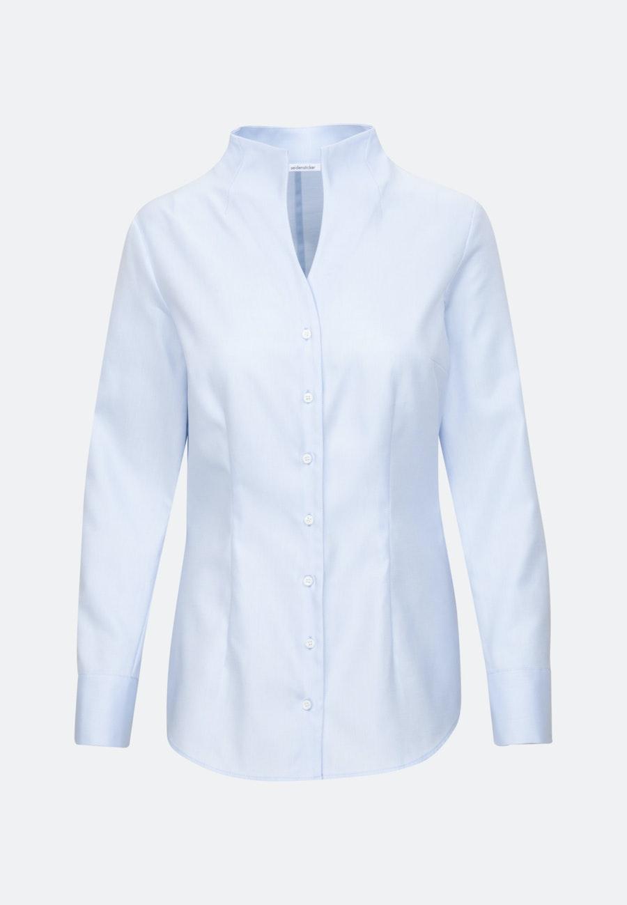 Twill Chalice Blouse made of 100% Cotton in Light blue |  Seidensticker Onlineshop