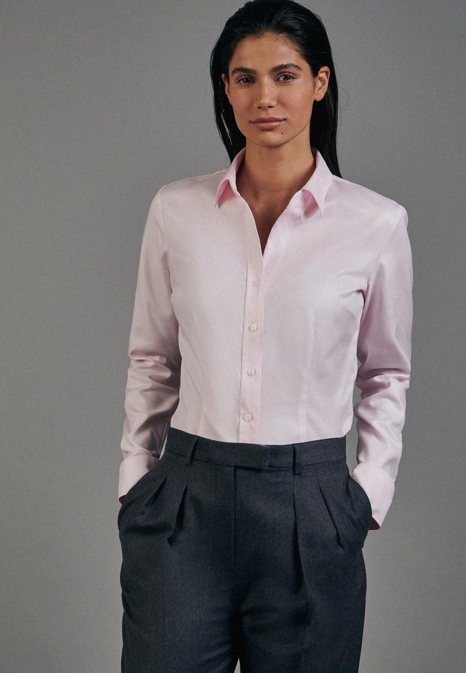 Twill Shirt Blouse made of 100% Cotton in Pink    Seidensticker Onlineshop