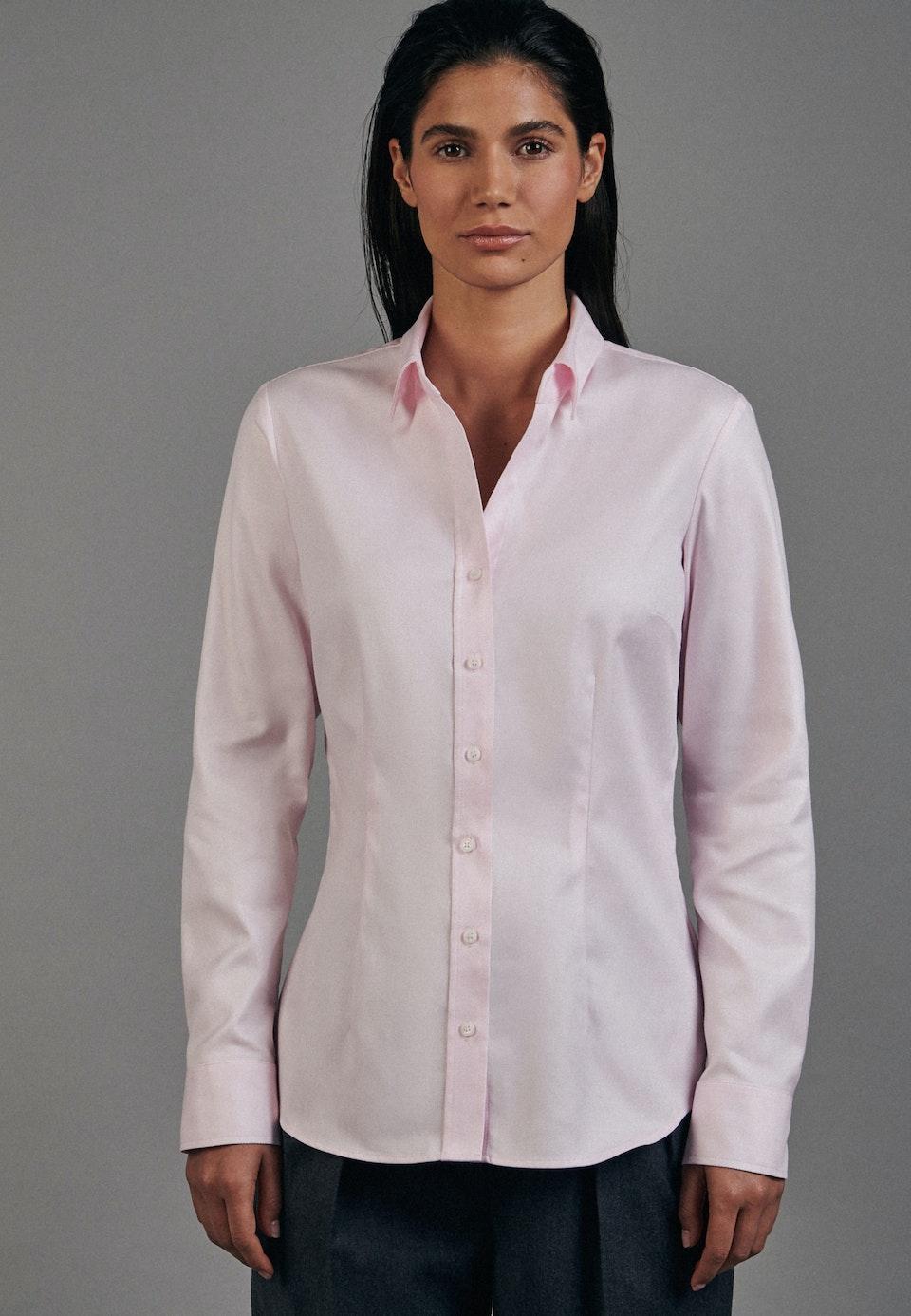 Twill Hemdbluse aus 100% Baumwolle in Rosa/Pink    Seidensticker Onlineshop