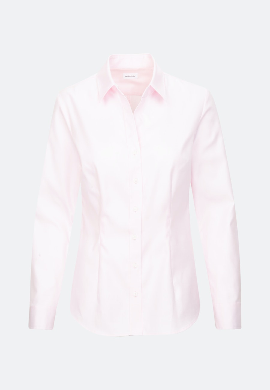Twill Shirt Blouse made of 100% Cotton in Pink |  Seidensticker Onlineshop