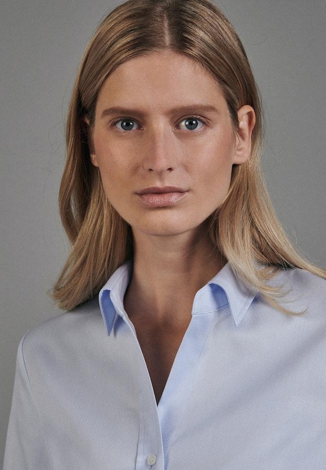 Twill Shirt Blouse made of 100% Cotton in Light blue |  Seidensticker Onlineshop