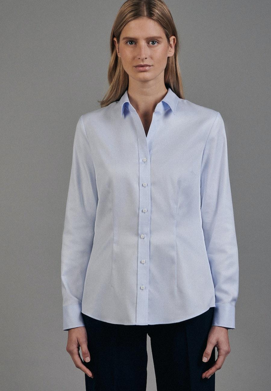 Twill Hemdbluse aus 100% Baumwolle in Hellblau |  Seidensticker Onlineshop