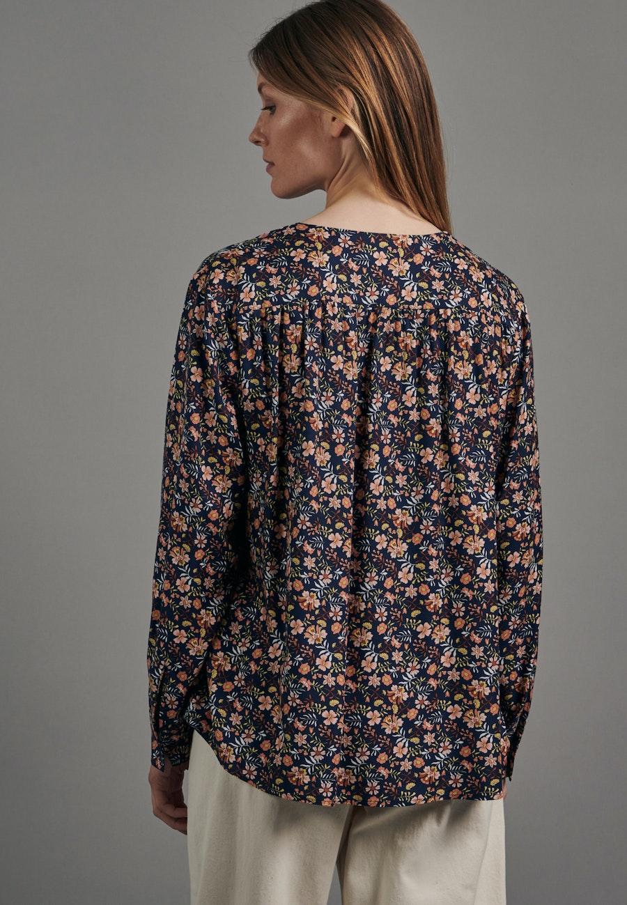 Twill Shirt Blouse made of 100% Viscose in Dark blue |  Seidensticker Onlineshop