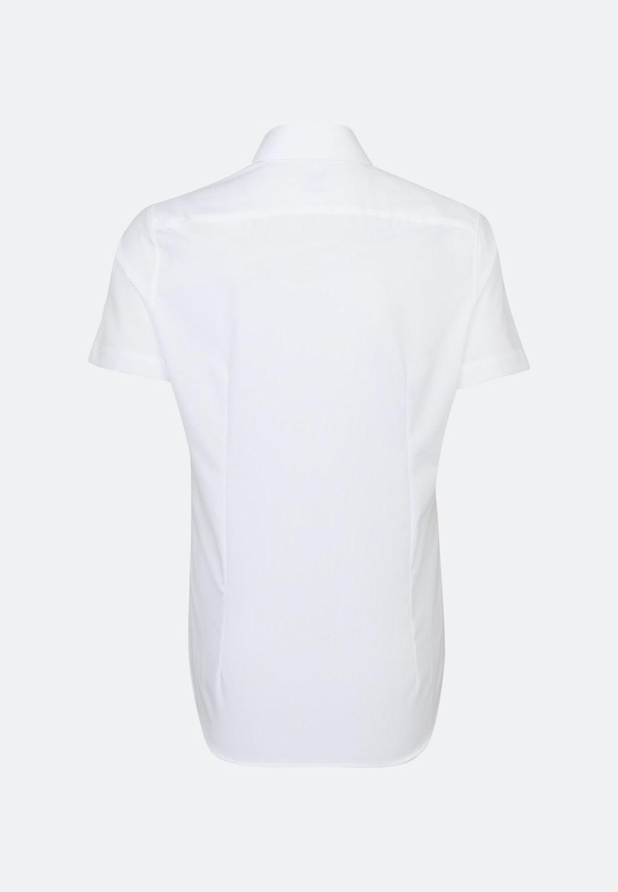 Bügelfreies Fil a fil Kurzarm Business Hemd in Slim mit Kentkragen in Weiß |  Seidensticker Onlineshop